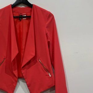 H&M Coral Pink Open Fly Blazer Size 2